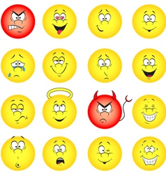 smileys collection vector image vector image