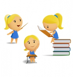 students computer and diploma vector image