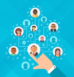 Building Social Media Audience vector image