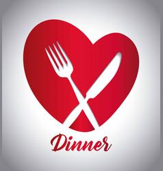 cutlery symbol design vector image