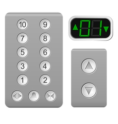 Lift the control panel on a white background vector image