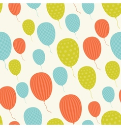 Retro Patterned Balloons vector image vector image