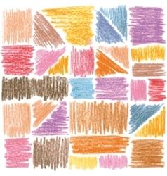 seamless pattern pencil strokes vector image vector image