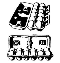 Dozen Eggs vector image vector image