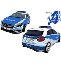 Germany police car vector