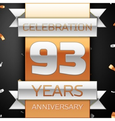 Ninety three years anniversary celebration golden vector