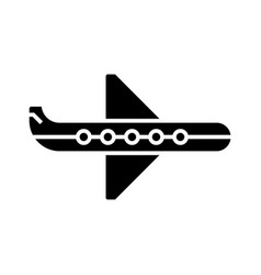 plane icon black sign on vector image