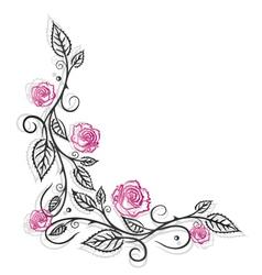 Roses vintage border vector image vector image