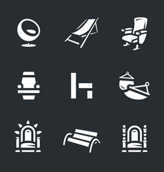 set of different armchairs icons vector image vector image