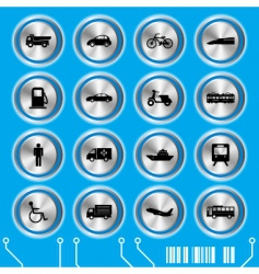 trans blue transportation icon vector image