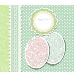 Vintage Easter card with eggs vector image