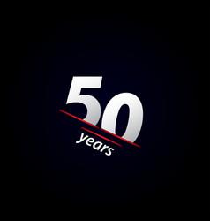 50 years anniversary celebration black and white vector