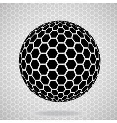 Abstract globe from hexagons vector