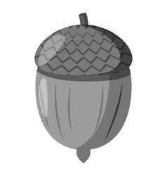 Acorn icon gray monochrome style vector image