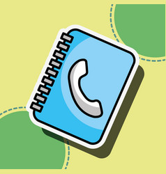 address contact book customer service vector image