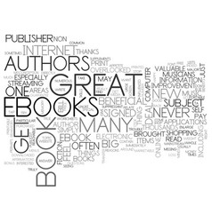 Benefits of e books text word cloud concept vector