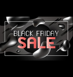black friday sale banner design liquid effect vector image