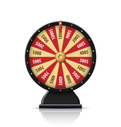 black wheel fortune 3d object isolated on white vector image