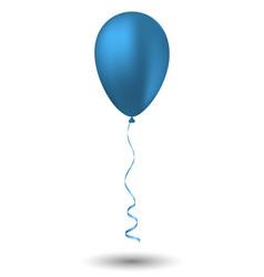 Blue balloon on white background vector