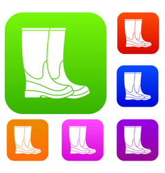 boots set collection vector image