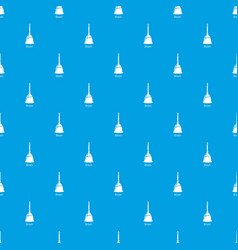 broom pattern seamless blue vector image