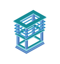 building frame isometric vector image