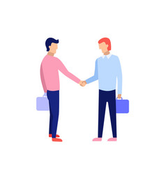 business people handshake concept of business vector image