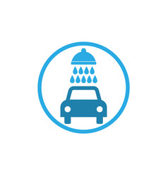 car wash icon flat design vector image