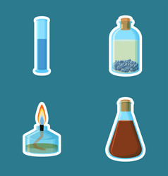chemical equipment cylinder with liquid bottle vector image