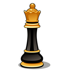 Chess piece black queen isolated on white vector