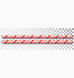 christmas candy border isolated blank christmas vector image