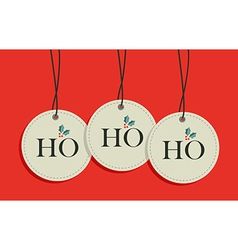 Christmas hang tags sale set vector image