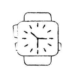 Classic analog watch wearable technology sketch vector