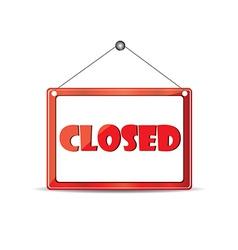 Closed signboard vector