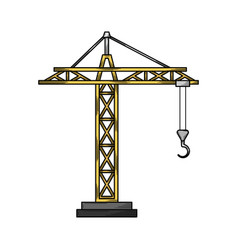 crane hand drawn sketch design vector image