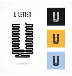 Creative u - letter icon abstract logo design vector