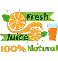 Digital fresh orange juice vector