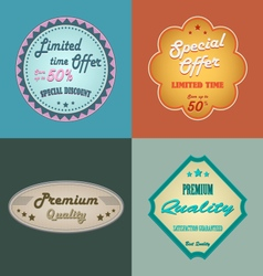 Discount retro design vintage style element vector image