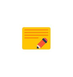 edit task icon flat element vector image