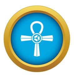 Egypt ankh symbol icon blue isolated vector