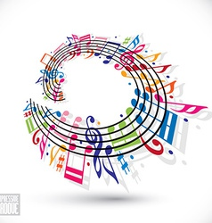 Expressive groove concept vector image