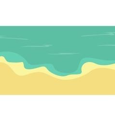 Flat of beach landscape vector