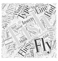 Fly Fishing Tackle Word Cloud Concept vector