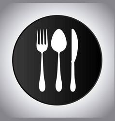 fork spoon knife cutlery symbol vector image