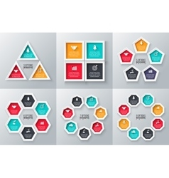 Geometric elements for infographic vector