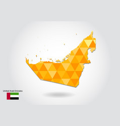 geometric polygonal style map of united arab vector image