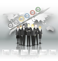 Group of a professional business team standing vector image
