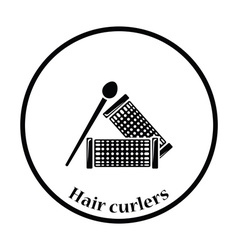 Hair curlers icon vector