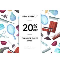 hairdresser or barber cartoon elements sale vector image