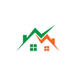 home business construction logo vector image